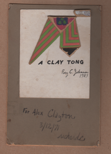 Clay tong by Richard C